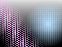 Dot Matrix and Grid on Gradient Black Royalty Free Stock Photo