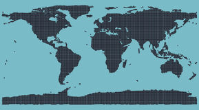 Dot Matrix World Map Stock Photography
