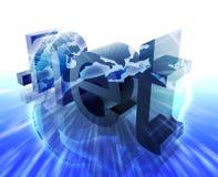 Dot net internet. Web url Europe worldwide illustration Stock Photography