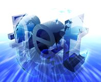Dot net internet Stock Images