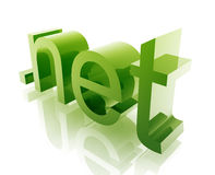 Dot net internet. Internet dot net word graphic, with metal chrome style Royalty Free Stock Photography