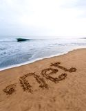 Dot net on the sand Stock Photo
