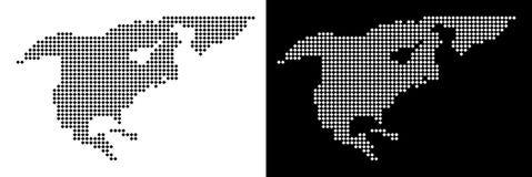 Dot North America Map Photo stock