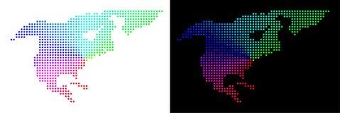 Dot North America Map brilhante ilustração royalty free