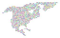 Dot North America Map coloré multi Illustration Libre de Droits