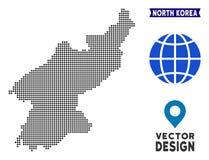 Dot North Korea-kaart stock illustratie