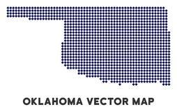 Dot Oklahoma State Map vector illustratie