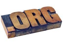 Dot org - nonprofit internet domain Stock Images