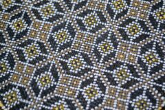 dot-painted-pottery-close-up Stock Images