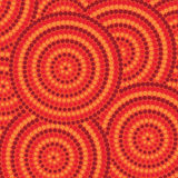 Dot painting. Abstract Aboriginal dot painting in vector format Royalty Free Stock Images