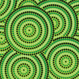 Dot painting. Abstract Aboriginal dot painting in vector format royalty free illustration