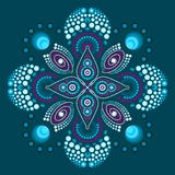 Dot painting meets mandala 3 - 18 royalty free illustration