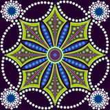 Dot painting meets mandalas 8. Aboriginal style of dot painting royalty free illustration