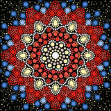 Dot painting meets mandalas 8. Aboriginal style of dot painting Stock Photo