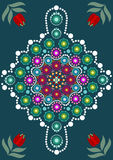 Dot painting meets mandalas Stock Image
