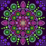 Dot painting meets mandalas 2 Royalty Free Stock Image