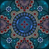 Dot painting meets mandalas 16-1. Aboriginal style of dot painting and power of mandala Vector Illustration