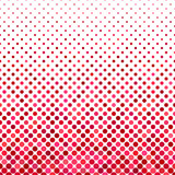Dot pattern background - geometric vector graphic design from circles in red tones Royalty Free Stock Photo