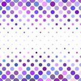 Dot pattern background - geometrical vector design from circles in purple tones Royalty Free Stock Images