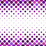 Dot pattern background - geometrical vector design from purple circles Stock Image