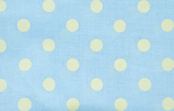 Dot pattern blue fabric texture. Royalty Free Stock Photography