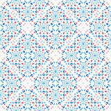 Dot Pattern Blue Red Boho floral Image stock
