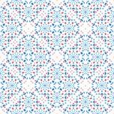 Dot Pattern Blue Red Boho floreale Immagine Stock