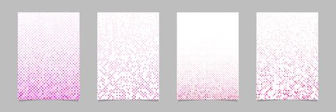 Dot pattern brochure design set - vector stationery background collection. With circles vector illustration