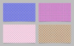 Dot pattern business card background template set - vector namecard design with colored circles Stock Photos