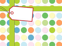 Dot pattern with gift box Stock Images