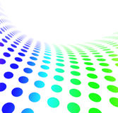 Dot Pattern Wave 2. Blue and green halftone dot pattern background showing movement and speed Royalty Free Stock Image