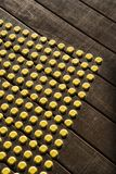 Dot pattern on wood. Stock Photo