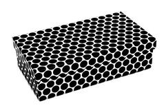Dot patterned box Royalty Free Stock Photos