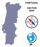 Dot Portugal Map stock illustratie