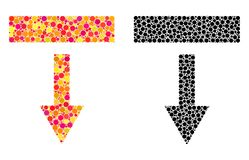 Dot Pull Down Mosaic Icons illustration stock
