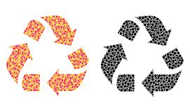Dot Recycle Mosaic Icons ilustração do vetor