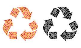 Dot Recycle Mosaic Icons ilustração stock