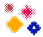 Dot rhombs halftone Stock Image