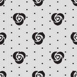 Dot rose lace seamless pattern net Royalty Free Stock Photography