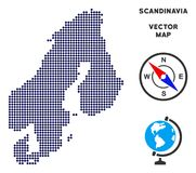 Dot Scandinavia Map stock illustratie