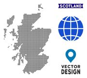 Dot Scotland Map illustrazione vettoriale