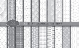 Dot seamless patterns Royalty Free Stock Photo