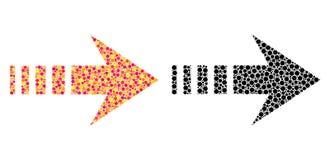 Dot Send Right Mosaic Icons vektor abbildung