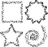 Dot shapes Stock Image