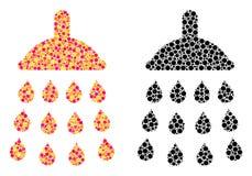 Dot Shower Mosaic Icons vector illustration