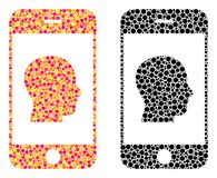 Dot Smartphone Contact Human Portrait Mosaic Icons vector illustration