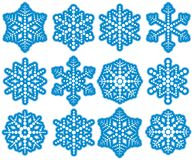 Dot Snowflakes stock illustration