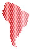 Dot South America Map rouge Photo stock