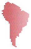 Dot South America Map rouge Illustration Libre de Droits