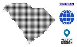 Dot South Carolina State Map illustrazione vettoriale